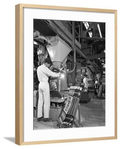 Bags Being Filled at the Spillers Animal Foods Plant, Gainsborough, Lincolnshire, 1962-Michael Walters-Framed Art Print