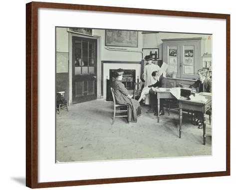 Medical Examination, Holland Street School, London, 1911--Framed Art Print