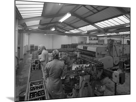 The Final Process of Bottling Beer, Ward and Sons Bottling Plant, Swinton, South Yorkshire, 1960-Michael Walters-Mounted Photographic Print