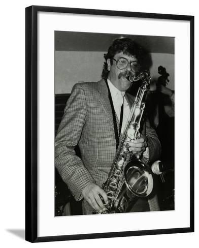 Tenor Saxophonist Alan Skidmore Playing at the Bell, Codicote, Hertfordshire, 16 November 1986-Denis Williams-Framed Art Print