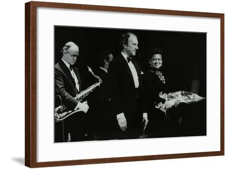 The Ted Heath Orchestra in Concert at the Forum Theatre, Hatfield, Hertfordshire, 18 November 1983-Denis Williams-Framed Art Print