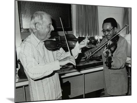 Stephane Grappelli and Claude Fiddler Williams at the Forum Theatre, Hertfordshire, 1980-Denis Williams-Mounted Photographic Print