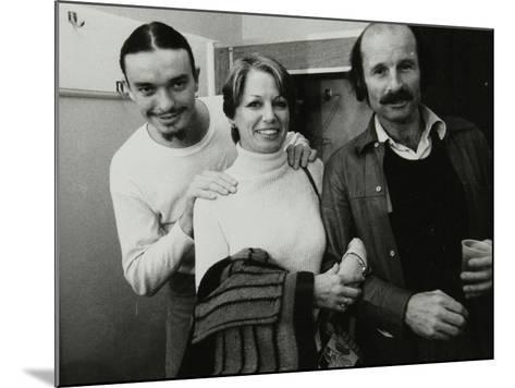 Weather Report Band Members Jaco Pastorius and Joe Zawinul with Jacki Kirkham-Pamflett at the Odeon-Denis Williams-Mounted Photographic Print