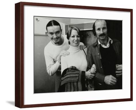 Weather Report Band Members Jaco Pastorius and Joe Zawinul with Jacki Kirkham-Pamflett at the Odeon-Denis Williams-Framed Art Print