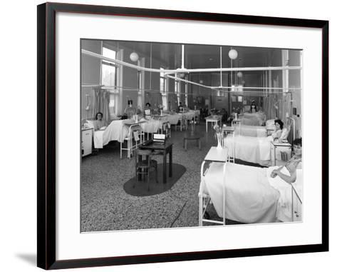 Patients on a Womens Surgical Ward, Montague Hospital, Mexborough, South Yorkshire, 1968-Michael Walters-Framed Art Print