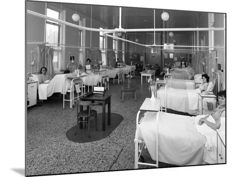 Patients on a Womens Surgical Ward, Montague Hospital, Mexborough, South Yorkshire, 1968-Michael Walters-Mounted Photographic Print