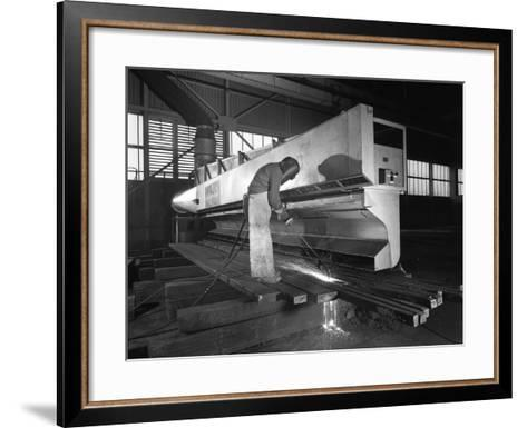 Steelworker at Park Gate Iron and Steel Co, Rotherham, South Yorkshire, April 1964-Michael Walters-Framed Art Print