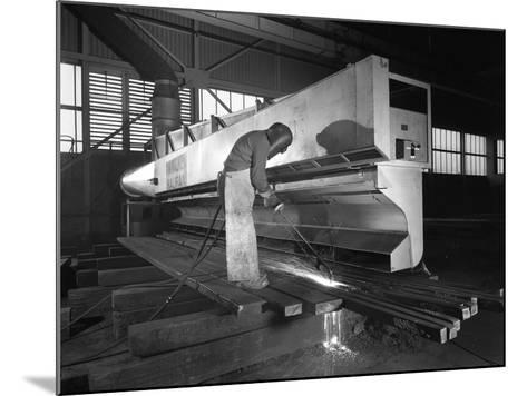 Steelworker at Park Gate Iron and Steel Co, Rotherham, South Yorkshire, April 1964-Michael Walters-Mounted Photographic Print