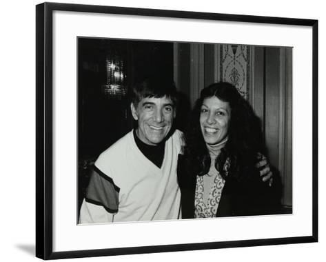 Drummer Louie Bellson with Lena Antonis at the Forum Theatre, Hatfield, Hertfordshire, 1979-Denis Williams-Framed Art Print