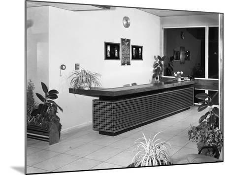 Newly Refurbished Reception, Park Gate Iron and Steel Co, Rotherham, South Yorkshire, 1966-Michael Walters-Mounted Photographic Print