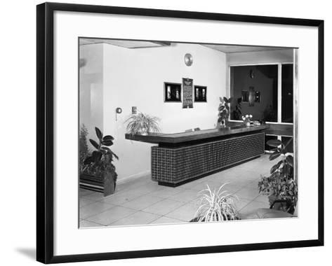 Newly Refurbished Reception, Park Gate Iron and Steel Co, Rotherham, South Yorkshire, 1966-Michael Walters-Framed Art Print