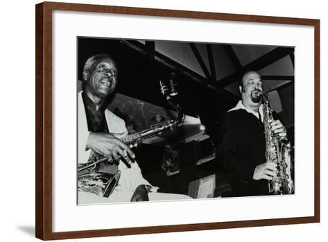 Sonny Stitt and Red Holloway Playing at the Bell, Codicote, Hertfordshire, 24 November 1980-Denis Williams-Framed Art Print