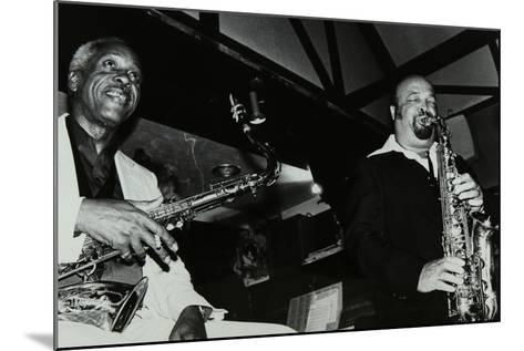 Sonny Stitt and Red Holloway Playing at the Bell, Codicote, Hertfordshire, 24 November 1980-Denis Williams-Mounted Photographic Print