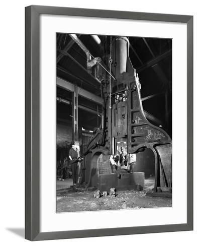 Forge in Action at Edgar Allens Steel Foundry, Sheffield, South Yorkshire, 1962-Michael Walters-Framed Art Print