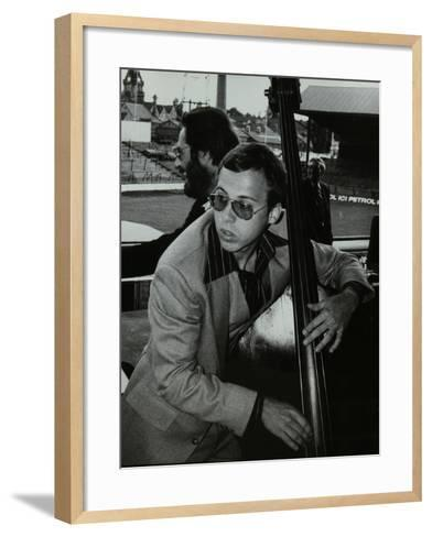 Marc Johnson and Bill Evans at the Newport Jazz Festival, Ayresome Park, Middlesbrough, 1978-Denis Williams-Framed Art Print