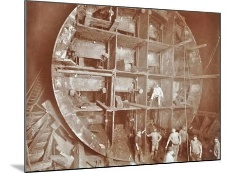 Construction of the Rotherhithe Tunnel, Bermondsey, London, November 1906--Mounted Photographic Print