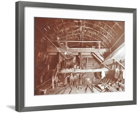 Bulkhead to Retain Compressed Air in Rotherhithe Tunnel, London, October 1906--Framed Art Print