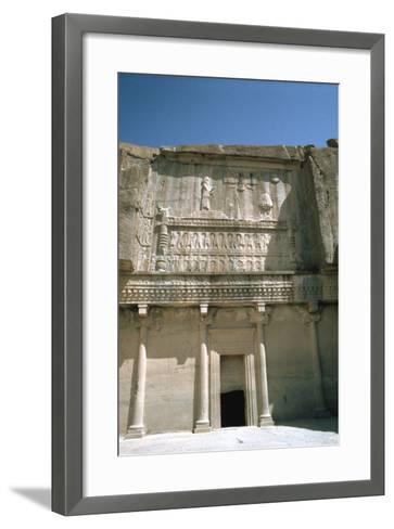 Relief, Tomb of Artaxerxes Ii, Persepolis, Iran-Vivienne Sharp-Framed Art Print