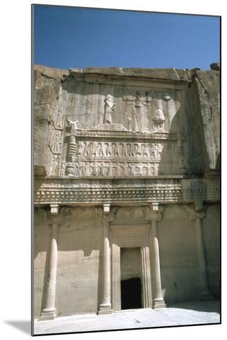 Relief, Tomb of Artaxerxes Ii, Persepolis, Iran-Vivienne Sharp-Mounted Photographic Print