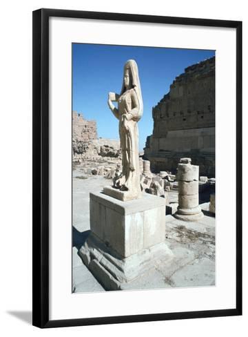 Statue of a Parthian Princess, Hatra (Al-Hadr), Iraq, 1977-Vivienne Sharp-Framed Art Print