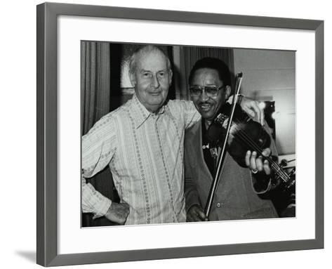 Stephane Grappelli and Claude Fiddler Williams at the Forum Theatre, Hertfordshire, 1980-Denis Williams-Framed Art Print