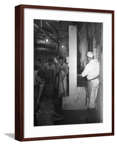 Butchery Factory, Rawmarsh, South Yorkshire, 1955-Michael Walters-Framed Art Print