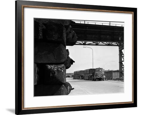 Erf 66Gsf Tipper Pulling a Hot Ingot Transporter, Rotherham, South Yorkshire, 1963-Michael Walters-Framed Art Print