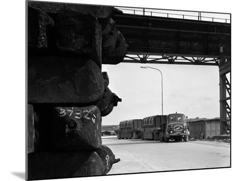 Erf 66Gsf Tipper Pulling a Hot Ingot Transporter, Rotherham, South Yorkshire, 1963-Michael Walters-Mounted Photographic Print