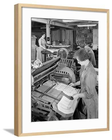 A Folding Machine in a Printworks, Mexborough, South Yorkshire, 1959-Michael Walters-Framed Art Print
