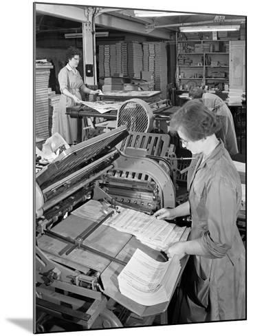A Folding Machine in a Printworks, Mexborough, South Yorkshire, 1959-Michael Walters-Mounted Photographic Print
