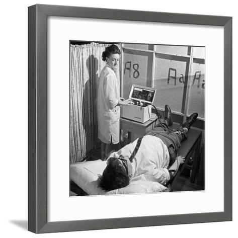 Nurse Using a Cardiopan Machine, Rotherham, South Yorkshire, 1967-Michael Walters-Framed Art Print
