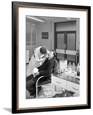 Health Check in the Medical Room, Park Gate Iron and Steel Co, Rotherham, South Yorkshire, 1964-Michael Walters-Framed Art Print