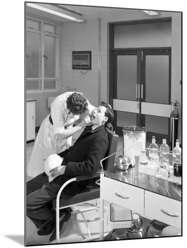 Health Check in the Medical Room, Park Gate Iron and Steel Co, Rotherham, South Yorkshire, 1964-Michael Walters-Mounted Photographic Print