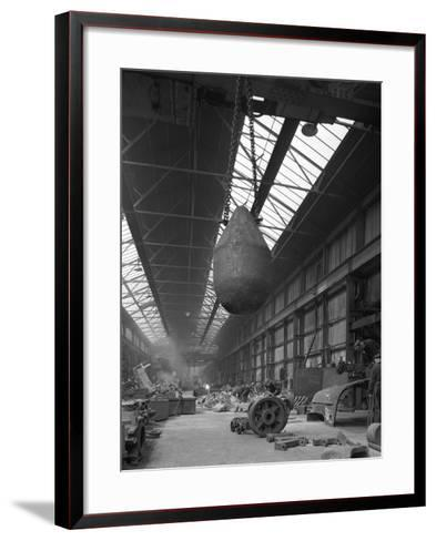 Edgar Allen Steel Foundry, Meadowhall, Sheffield, South Yorkshire, 1962-Michael Walters-Framed Art Print