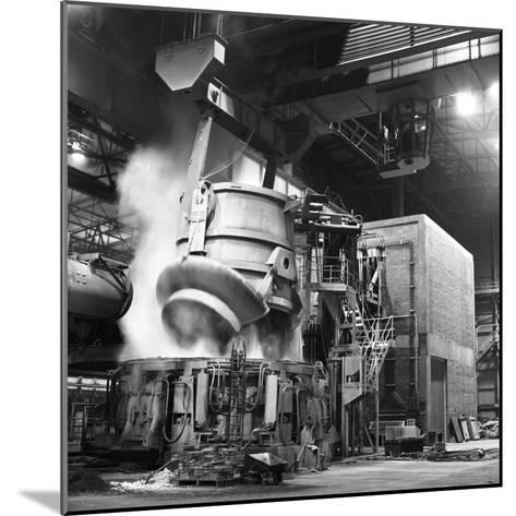 Charging a Furnace, Park Gate Iron and Steel Co, Rotherham, South Yorkshire, 1964-Michael Walters-Mounted Photographic Print