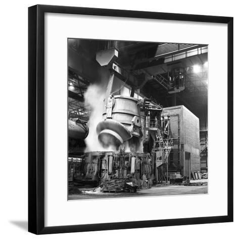 Charging a Furnace, Park Gate Iron and Steel Co, Rotherham, South Yorkshire, 1964-Michael Walters-Framed Art Print