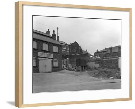 Greengrocers Warehouse Exterior, Mexborough, South Yorkshire, 1966-Michael Walters-Framed Art Print