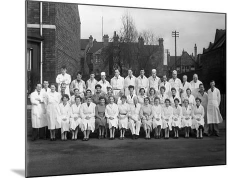 Staff from Schonhuts Butchery Factory, Rawmarsh, South Yorkshire, 1955-Michael Walters-Mounted Photographic Print