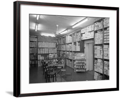 Sports Shop Interior, Sheffield, South Yorkshire, 1961-Michael Walters-Framed Art Print