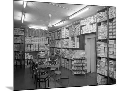 Sports Shop Interior, Sheffield, South Yorkshire, 1961-Michael Walters-Mounted Photographic Print