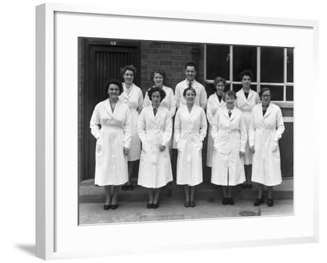 Staff from Schonhuts Butchery Factory, Rawmarsh, South Yorkshire, 1955-Michael Walters-Framed Art Print