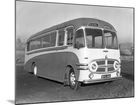 Pickerills Commer Coach, Darfield, Near Barnsley, South Yorkshire, 1957-Michael Walters-Mounted Photographic Print