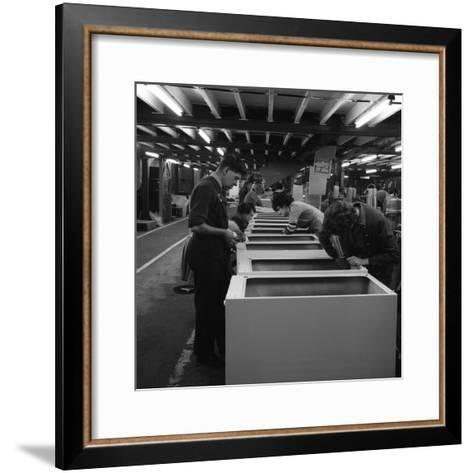 Fridge Assembly Line at the General Electric Company, Swinton, South Yorkshire, 1964-Michael Walters-Framed Art Print