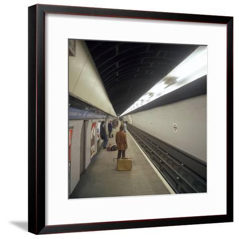 Blackhorse Road Tube Station on the Victoria Line, London, 1974-Michael Walters-Framed Art Print