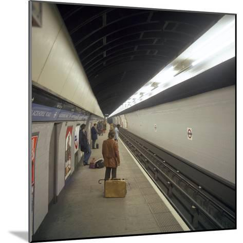 Blackhorse Road Tube Station on the Victoria Line, London, 1974-Michael Walters-Mounted Photographic Print