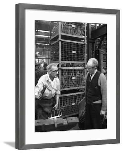 Garden Tool Production, Brades Tools, Sheffield, South Yorkshire, 1966-Michael Walters-Framed Art Print