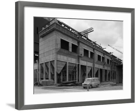 Bedford Ca Minibus Parked on a Building Site in West Burton, Nottinghamshire, 1964-Michael Walters-Framed Art Print