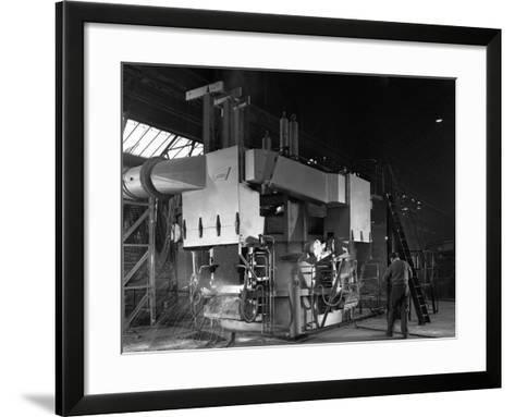 Arc Furnace in Operation, Sheffield, South Yorkshire, 1964-Michael Walters-Framed Art Print