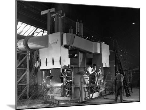 Arc Furnace in Operation, Sheffield, South Yorkshire, 1964-Michael Walters-Mounted Photographic Print