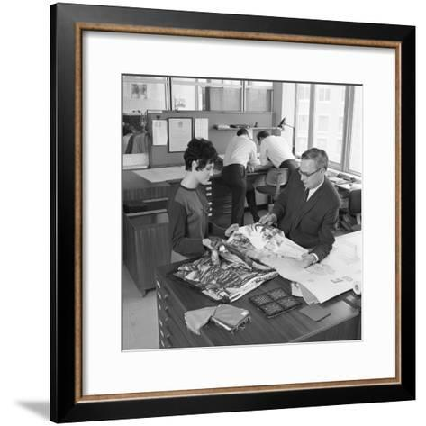 Architects Department at Tetleys Brewers, Leeds, West Yorkshire, 1968-Michael Walters-Framed Art Print